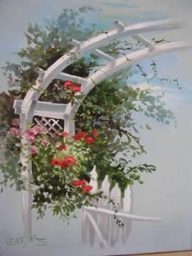 5 Tage Schulung Blumenmalerei nach Gary & Kathwren Jenkins -Silber- 21.-25.10.2019 - Bild vergrößern