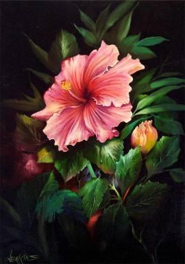 04. Tropischer Rosa Hibiskus (Gary Jenkins) Deutsch - Bild vergrößern